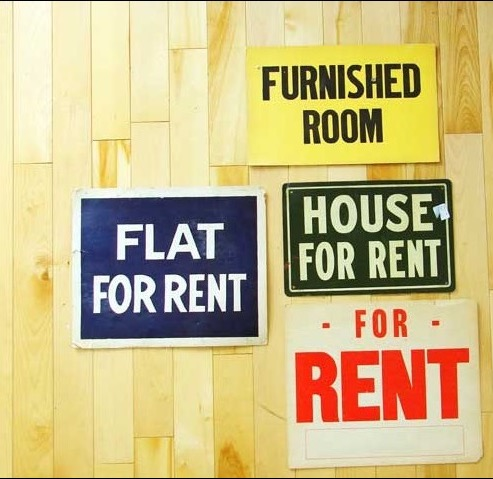 Largest annual falls in advertised weekly rents